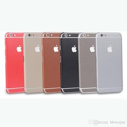 Wholesale phone sticker cover iphone6 mobile phone film S striae body color film Apple Extreme border protection film back
