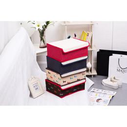 Wholesale 45L dark red foldable oxford fabrics organizer storage box bins underwear box for bra underwear tie socks