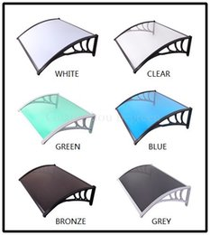 Wholesale YP80120 ALU x120cm x47 Aluminum window awning front door canopy rain shelter sun cover with unbreakable PC solid sheet