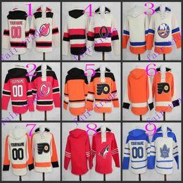 Wholesale new jersey devils new york islanders lace ottawa senators lace Cheap Hockey Hooded Stitched Old Time Hoodies Sweatshirt Jerseys