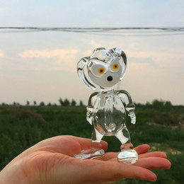 Dog girl Rigs oil rigs dab rigs concentrated rig glass bong with white accent with hole perc 14.5mm female joint