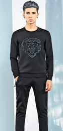 Wholesale 2016 Fashion Spring And Autumn Man Sweater T shirt Casual Sportswear Painted Maseratied Pullover Sport Slim Overcoat Tracksuits