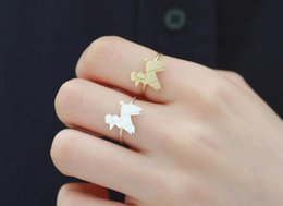 Fashion poodle ring, plane geometry animals rings,manual welding copper ring wholesale free shipping for women