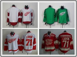 Wholesale 2016 New Detroit Red Wings Jerseys Dylan Larkin Pavel Datsyuk Stitched logo Ice Hockey Jersey Red Green White Black Color