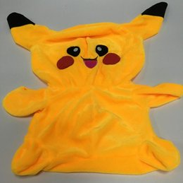 Wholesale Pokeman Pikachu cm Plush Doll Cover Japan Pocket Monster Cartoon Plush Toys Cover only NO PP cotton fillers HHA1049
