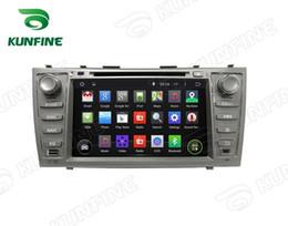 Descuento consola gris Jugador de la navegación del GPS del coche del androide 5.1 de la pantalla de la base 1024 * 600 HD de la base 1024 * 600 HD para TOYOTA CAMRY 2007-2011 Control de radio del volante