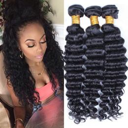 7A Queen Peruvian Malaysian Indian Virgin deep wave virgin human Hair Extensions Brazilian Deep Wave Hair Weave Human Hair Products 3 4pcs