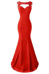 Wholesale Clothing Stores Cheap Vestido Nochevieja Sexy Red Mermaid Evening Dresses Women Formal Party Dresses