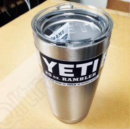Wholesale 20oz Yeti Cups Cooler Rambler Tumbler Stainless Steel Double Wall Bilayer Vacuum Insulate Silver Insulated Thermos Coffee Mug Cup OOA119