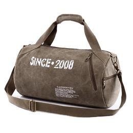 Wholesale Shoulder Handbag Casual Male Bags - Men Canvas Sport Bag Training Gym Bag Woman Fitness Bags Durable Multifunction Handbag Outdoor Sporting Tote Ffor Male fashion Free shipping