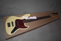 Wholesale Custom Shop String Jazz bass Electric Bass Guitar fashional yellow High Quality Best selling gold part headcase