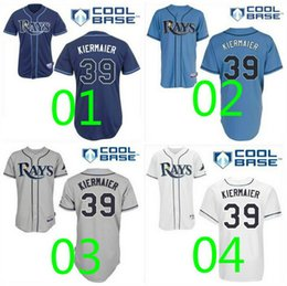 Wholesale Top Quality Tampa Bay Rays Jerseys Kevin Kiermaier Jersey White Grey Blue Cool Base Shirts Stitched Authentic Baseball Jerseys