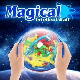 Wholesale Puzzle Hot Sale Barriers Funny D Puzzle Maze Ball Space Intellect Game Stages Kids Toy Gift dandys truelovewangwu