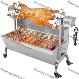 Wholesale cm Commercial Hog Roast Machine BBQ Spit Chicken Pig Roaster Rotisserie Stainless Steel Roasting Motor