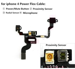 for apple iPhone 4 5 5g 5c 5s 6 Switch Power Button Flex Cable ON OFF Ribbon Mute Switch Volume Button Replacement 1pcs