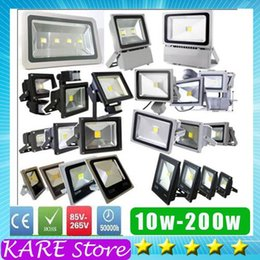 Wholesale LED Flood light IP65 W W W W W W W W cob Epistar RGB WW CW Outdoor project LIGHTS luminaire Black grey shell lamps