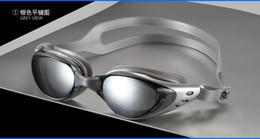 Marcos de carreras en venta-BFFA30 Anti-niebla ULTRAVIOLETA impermeable que compite con los anteojos de la natación de los anteojos Ajustable Adulto que electrochapa los vidrios ópticos los vidrios grandes de la nadada del capítulo