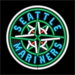 New Seattle Mariners Glass Neon Sign Light Beer Bar Pub Arts Crafts Gifts Lighting Size 22""
