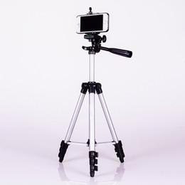 Descuento soportes de cámaras digitales La aleación de aluminio mini-DSLR Rosca de trípode de cámara digital, teléfono portátil de viaje trípode para la cámara del smartphone acción del deporte