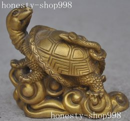 Wholesale Chinese Folk Myth copper brass Turtle Tortoise Snake Basaltic God beast statue