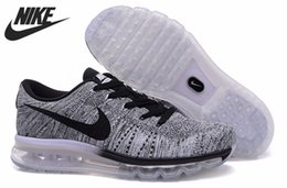 Discount Shoes Run Air Max Hot Sell Nike AIR MAX 2014 Flyknit Brand Running Shoes Men Athletic Outdoor Run Walking Sport Sneakers Boots Eur Size 40-45