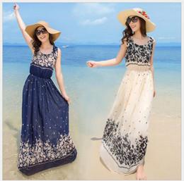100pcs Maxi dresses Women Summer Style Floral Print Beach Dress Stripe Sleeveless Maxi Dresses Sexy Elegant bohemian dress Fast Shipping