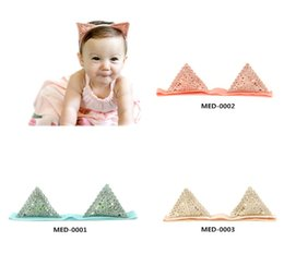 2016 new Korean style new arrival Child baby girl fashion cat ears hair with baby hair bow hair bands headband hairpin 3 colors