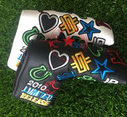 Wholesale 2016 new style stars golf headcover embroidery golf putter headcovers top quality pu leather sale head cover