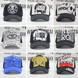 Wholesale 2016 Hip hop mesh hat summer style cap man and women cap truck cap baseball cap net cap design can choose