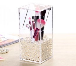 Wholesale New Listing Make Up Box Acrylic Queen Pearl Dressing Cosmetic Drawer Makeup Organizer Case Storage the Insert Holder