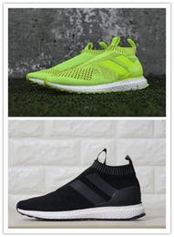 Wholesale Ace PureControl Black Yellow Primeknit Ultra Boost Running Shoes David Beckham AA High Quality Size