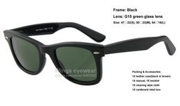Wholesale Top quality big angle inclined style acetate sunglasses Black frame G15 green glass lens brand new gafas de sol