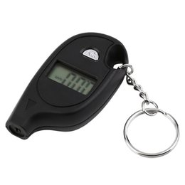 Wholesale 1Pc Mini Keychain LCD Digital Car Tire Tyre Air Pressure Gauge Auto Motorcycle Test Tool with cell lithium battery Brand New
