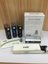 Wholesale Eleaf Istick W TC Mod Variable Wattage Watt Istick TC W Mah Battery Capacity Eleaf Istick W Kit DHL