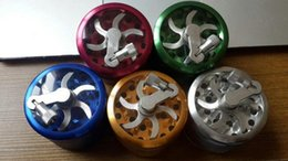 Wholesale Crank Boxes Wholesale - Colorful 55mm 4layers Zicn alloy hand crank tobacco grinders metal grinders for herbs herbal grinders for tobacco with Retail Box