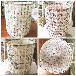 2017 stockage pour les jouets Zakka Laundry Basket Sorter Sac Hamper rangement pliable Coton Lin laveroui Panier Bin Accueil sacs de stockage de stockage de jouets bin LJJK488 stockage pour les jouets à vendre