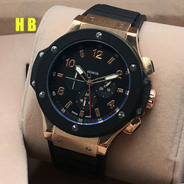 Wholesale Luxury Watches Men Watch Six Pointers Subdials Work Mechanical Autmatic Wristwatch Famous Brand H Rubber Strap Big Bang Gift for men relogie