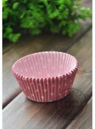 Wholesale La alta calidad molde casos taza mini muffin forros de color rosa taza de la torta de la hornada torta de la taza lotes envío libre