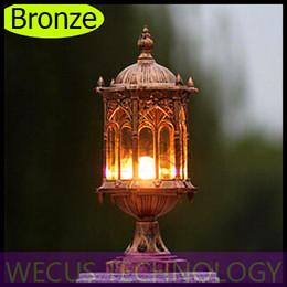 Al por mayor (WECUS) envío libre, faros de columna al aire libre, las luces del balcón pilar impermeables, serie europea, sin fuente de luz, XJ-HWD0035 desde wecus light fabricantes