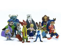 12pcs lot 4-8cm new Movie Zootopia Cartoon Utopia Action Figure Movie Pvc Mini Models Nick Fox Judy Rabbit free shipping