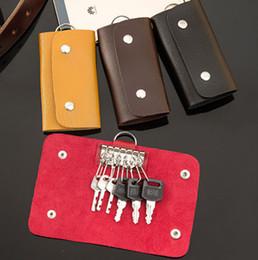 Carteras con cadenas en Línea-Clave de la moda de cuero PU caso de la bolsa titular de la clave Key Pocke coche Cadena carpeta dominante para el color Hombres Mujeres Mix regalo