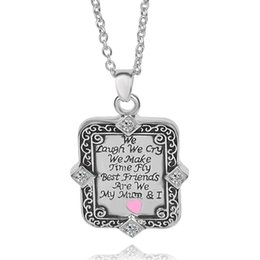 Wholesale 2016 New Mom Love one side letter quot We Laugh We Cry We Make Time Fly quot We quot best mom quot necklace ZJ