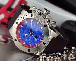 52mm oversize chronograph QUARTZ watch men wristwatch chrono stop watch