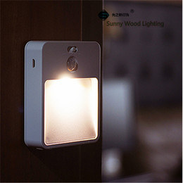 50pcs lot 0.5W LED PIR and light sensor stair lamp , wireless batterymodel 3M fixing night lamp ,wall,cabinet ,passway lamp