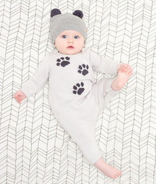 Wholesale-2016 winter new brand Baby sweater Wool Rompers For Baby Boy Girl romper Winter Clothing super lovely Winter Clothes baby Romper