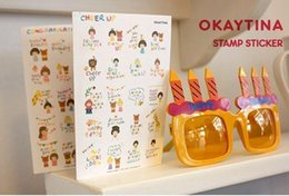 Wholesale Okey Tina Theme Paper Stamp Sticker Diary Decorative Stickers Affixed