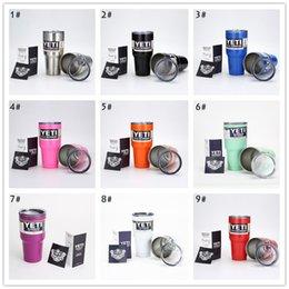 Wholesale 2016 Latest Hot Vacuum YETI oz Tumbler Lid Rambler Cups Yeti Coolers Coffee Cup Yeti Sports Mugs Capacity Stainless Steel Mug