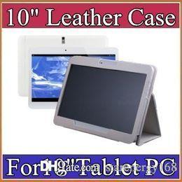 "Leather case for 10"" 10.1 inch Samsung N9106 MTK6572 MTK6582 MTK6572 MTK6589 MTK6592 tablet phone 3G tablet PC general case A-PT"