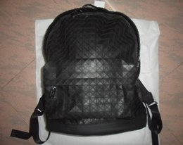 Wholesale Bao Bao Mens C Daypack Backpack White and Black Color School Bags triangulated Shape Large Body Pocket Outer Zip Pocket Real Picturess