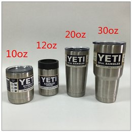 Wholesale 2016 Yeti Car Cups Bilayer Wall Stainless Steel Insulation Cup oz oz oz oz YETI Rambler Tumbler Cup kitchen grade stainless